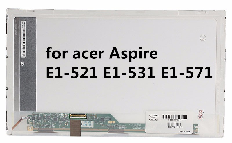 for acer Aspire E1-521 E1-531 E1-571 NEW 15.6 LED WXGA HD Glossy Laptop LCD Screen wzsm brand new lcd flex video cable for acer e1 e1 521 e1 531 e1 571 v3 571 gateway nv53 nv55 nv56 laptop cable p n dc02001fo10