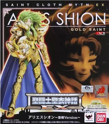 New Model toys <font><b>Saint</b></font> <font><b>Seiya</b></font> <font><b>Cloth</b></font> <font><b>Myth</b></font> Gold Ex 2.0 Aries Shion action Figure toy Super Hero <font><b>Bandai</b></font> collector image