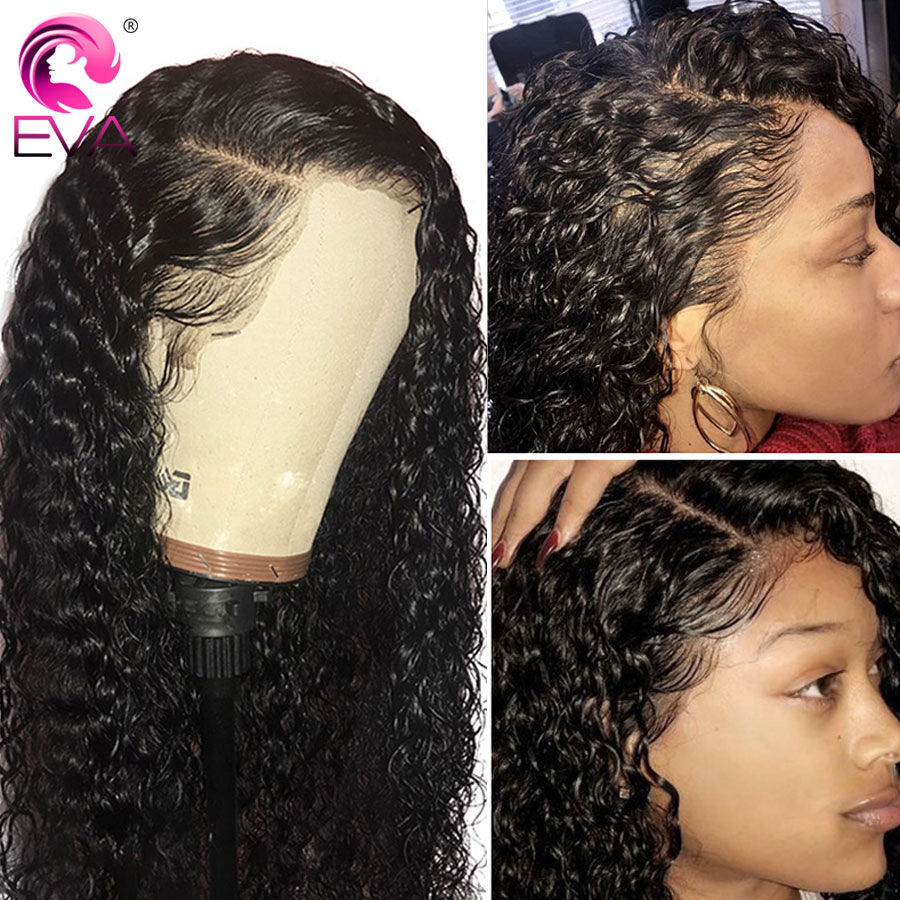 Eva Hair 360 Lace Frontal Wig Pre Plucked With Baby Hair Brazilian Curly Lace Front Human Hair Wigs For Black Women Remy Hair