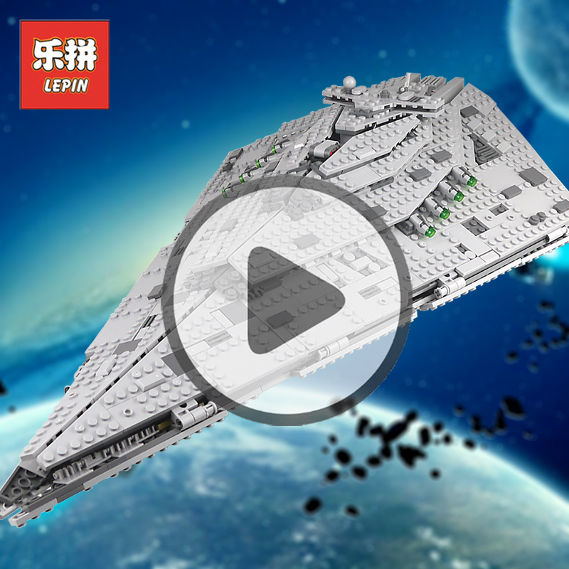 Lepin 05131 1585Pcs Star Wars Figures First Order Star Destroyer Sets Compatible75190 Model Building Kits Blocks Bricks Toy Gift skylarpu 3 inch lcd screen for garmin colorado 400c gps display screen with touch screen repair replacement free shipping