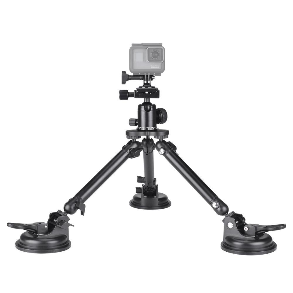 Vehicle Bonet Car Roof Top Vacuum Triple Suction Cup Holder Mount For Gopro 7 6 5 Black Sony Eken Xiaomi Yi SJCAM Sports Camera