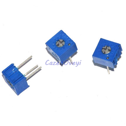 10pcs 3362P 101 201 501 102 202 502 103 203 503 104 204 504 105 Trimpo Trimmer Potentiometer 3362 500R 1K 2K 5K 10K 20K 50K 100K