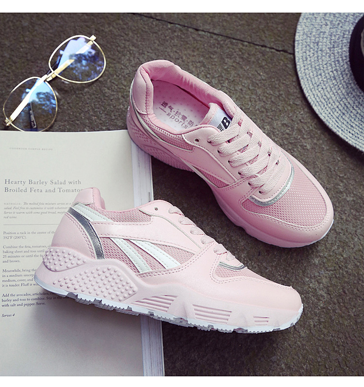 2017 new British style spring sports shoes women small white shoes Outdoor comfort women with running board shoes max size 35-40