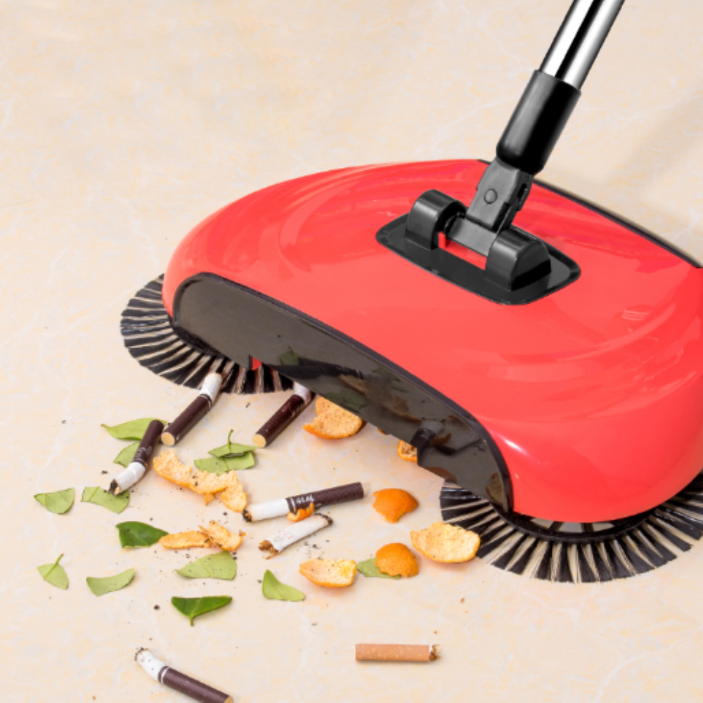 Stainless Steel Hand Push Sweepers Sweeping Machine Vacuum Cleaner  Broom Mop Dustpan Handle Dropship Household Cleaning Tool(China)