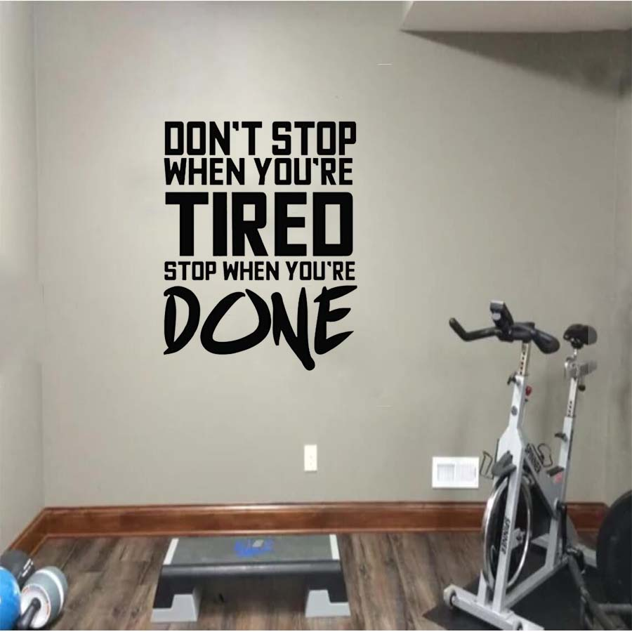 Fitness sport exercises wall sticker inspirational quotes beast