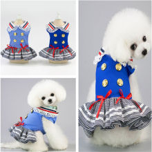 Fashion 100% Cotton Pet Dress Lovely Lace Collar summer dress pet cat cotton