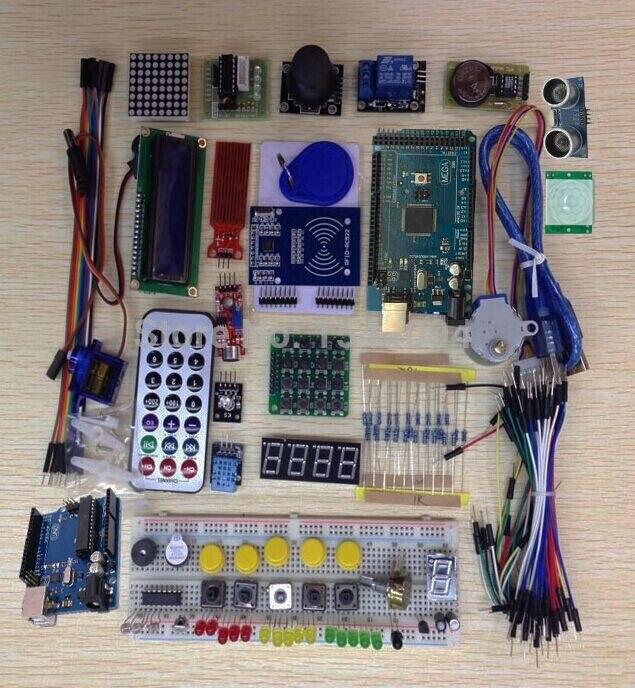 Starter Kit for font b arduino b font Uno R3 mega 2560 Servo 1602 LCD jumper