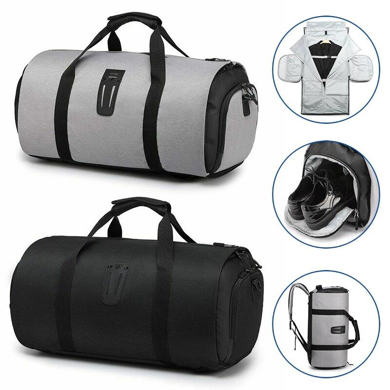 Sac de voyage multifonction pour hommes de grande capacité sac de voyage étanche pour costume de voyage sacs de bagages à main avec pochette à chaussures HFing