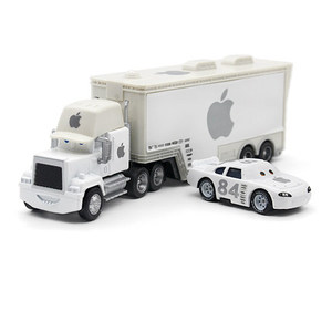 Image 5 - Disney Pixar Autos 21 Stile Mack Lkw + Kleine Auto McQueen 1:55 Diecast Metall Legierung Und Kunststoff Modle Auto Spielzeug geschenke Für Kinder