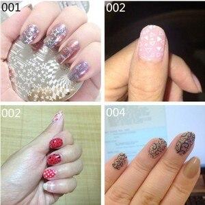 Image 5 - 1pc Nail Art Polish Stamp Plates 12 Designs Round Nail Stamping Plates DIY Nail Art Template Manicure Nail Tools Hehe 001 012#