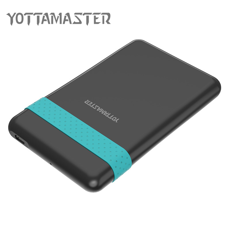 YOTTAMASTER HDD Enclosure 2.5inch 5 Gbps Type-c To SATA 3.0 Hard Drive Disk Case 2 TB Support UASP With Silicone Band USB Cable