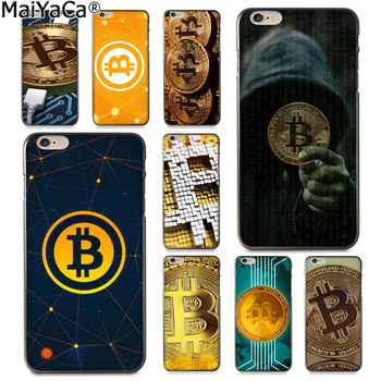 MaiYaCa bitcoin Luxury Fashion Phone Case for Apple iPhone 8 7 6 6S Plus X 5 5S SE 5C Cover