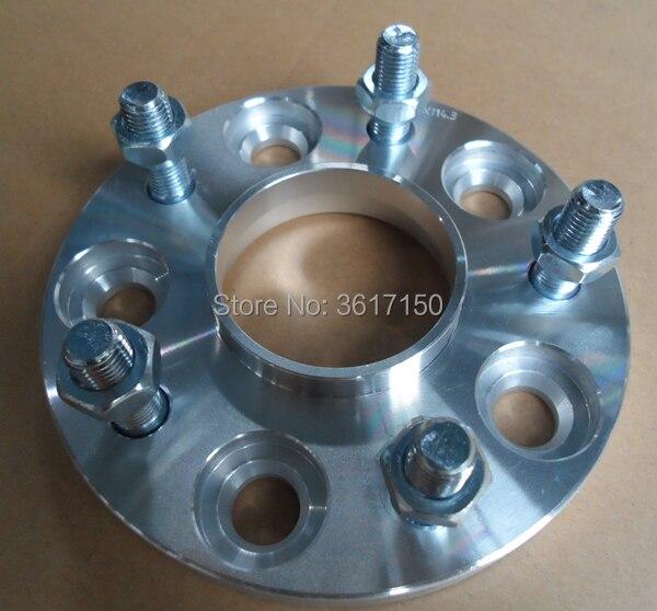 25mm Spoorverbreders/adapters Pcd 5x100 Tot 5x100 Cb 57.1-57.1mm Wiel Studs M12x1.5