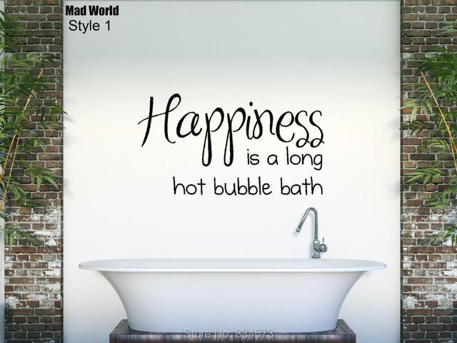 Tegel Decoratie Stickers : Mad wereld geluk is een hot bubble bad badkamer wall art stickers
