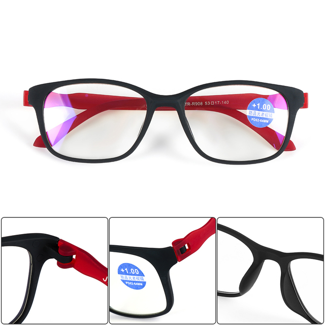 f59d61987ff1 +1.0~+4.0 Elders Magnifying Reading Glasses Vision Care Ultralight Eyewear  Unisex Bifocal Reading