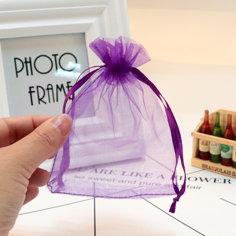 10pcs/lot 17x23 30x40 CM Big Organza Bags Boutique Jewelry Packaging Bags Wedding Party Favor Drawstring Gift Bag 22 Colors