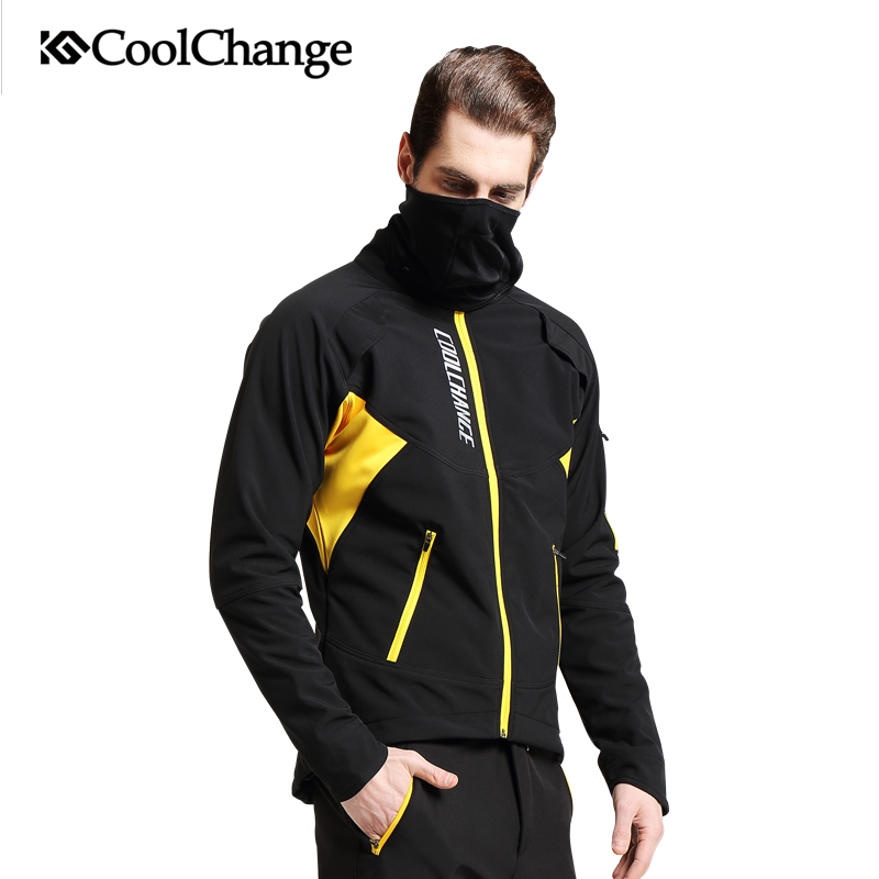 CoolChange Bicycle Long Sleeve Cycling Jersey Suit Male Winter Warm Outdoor Bike Coat Riding Pants Mountain Bike Clothes