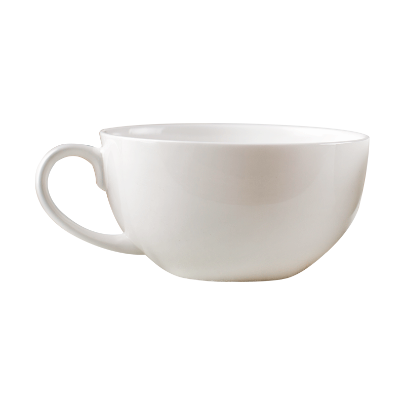 Havermout ontbijt, melk, granen, keramische, grote capaciteit, pap, kom, grote koffie.