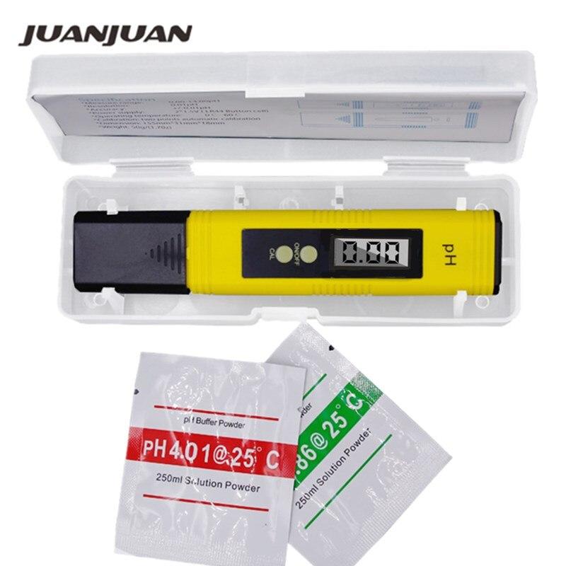 10pcs Protable Digital PH Meter LCD Pen Monitor 0 01 Tester Aquarium Pool Water automatic calibration