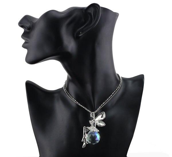 boll österrikisk kristall ängel fe vinge hängsmycke kedja kedja - Märkessmycken - Foto 6