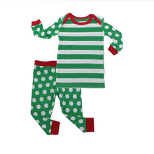 Family Matching Green Polkadot Christmas PJS Pajamas set