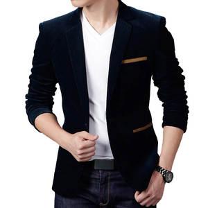 Jacket Men Blazers Clothing Casual Suit Vetement Male Corduroy Fashion Homme Slim Autumn