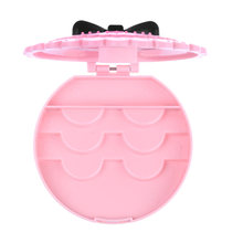 1PC Acrylic Cute Bow False Eyelashes Eye Lashes Storage Box Makeup Cosmetic Mirror Case Organizer(China)