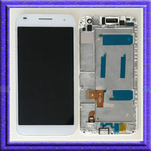 White LCD Display Touch Digitizer Glass Assembly + Frame For Huawei Ascend G7 G7-L01 G7-L03