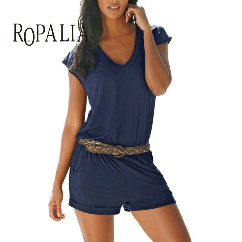 ROPALIA Womens Mini Playsuit Ladies Jumpsuit Summer Party Shorts Beach Shorts Combination