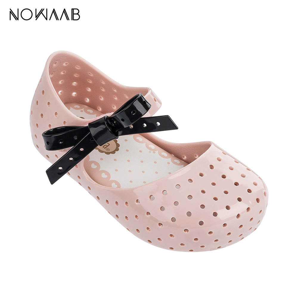 Mini Melissa Furadinha X 2019 New Original Girl Jelly Sandals Kids Sandals Children Beach Shoes Non-slip Toddler Shoes