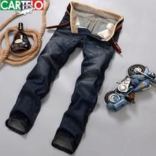 Cartelo мужчины джинсы марка 2016 мужская новый ретро известный носить джинсовые брюки моды прямые джинсы шить страх божий мужской брюки