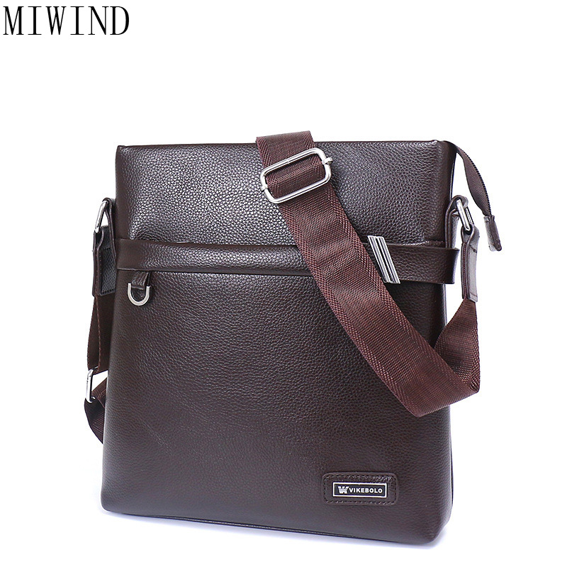 MIWIND  Brand Fashion PU Leather Men's Messenger Bags Office Men Bag Quality Travel Shoulder Bag Handbag for Male TRX9769 safebet brand crocodile pattern fashion men shoulder bags high quality pu leather casual messenger bag business men s travel bag
