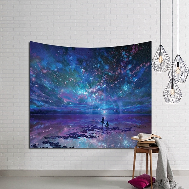 Polyester Tapestries With Galactic Space Prints
