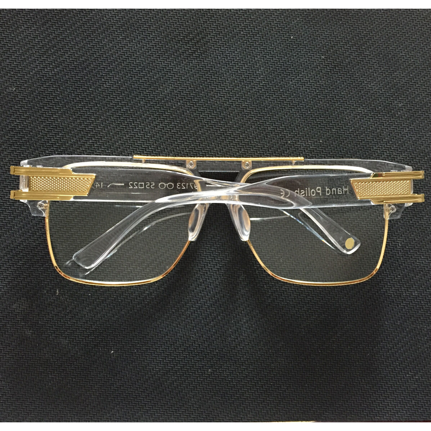 e751c738634 Peekaboo Half frame eyeglasses frames men square optical gold black eye  glasses frames for women brand designers 2016 big-in Eyewear Frames from  Apparel ...