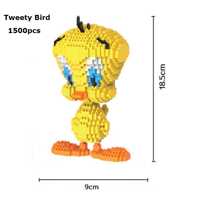 HC Blocks Cartoon Building Toy Big size Tweety Bird Model Auction Figures DIY Micro Bricks Brinquedo Toys for Children Gift loz small plastic bricks minion micro blocks cartoon diy building toys pegman auction figures toy kids gifts 1201 1208