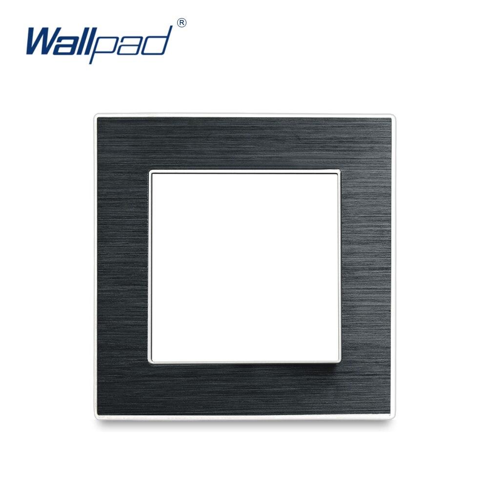 Wallpad Luxus Aluminium Legierung Panel Rahmen Schwarz Hotel Panel Vertikale und Horizon Rahmen 1 2 3 4 5 Rahmen Panel nur