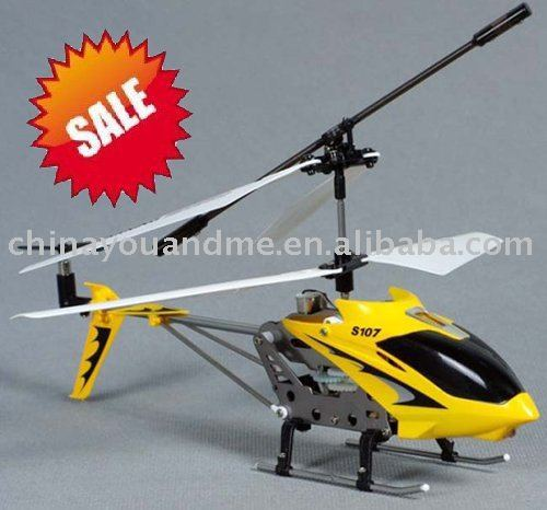 6pcs SYMA S107 Metal 3-channel RC helicopter,remote control helicopter,Gyroscope design,toy, gift free shipping