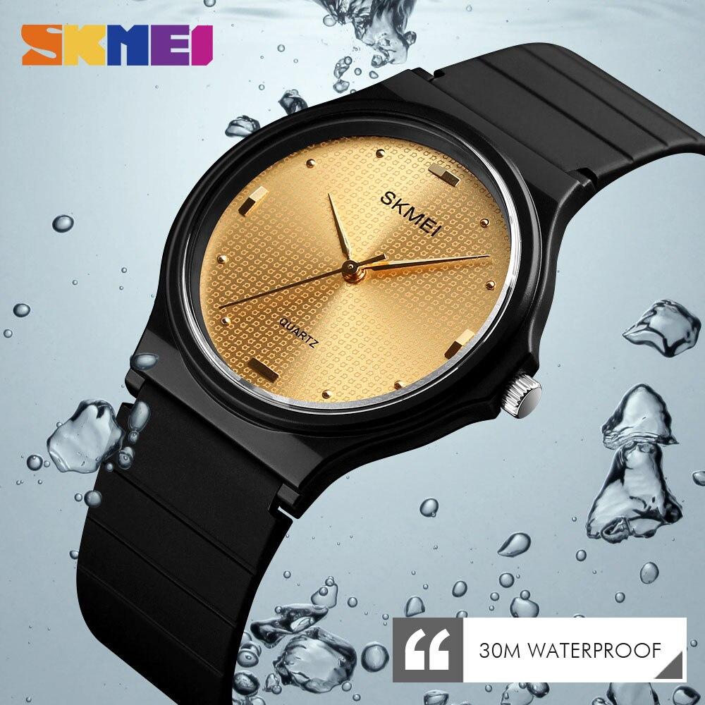 Skmei Quality Fashion PU Strap Women Watch Casual Simple Quartz Wrist Watch Women Relogio Feminino Ladies Luxury Watches