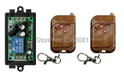 NEW DC12V 1CH 10A wireless remote control switch system teleswitch 2X Transmitter + 1X Receiver relay smart house z-wave