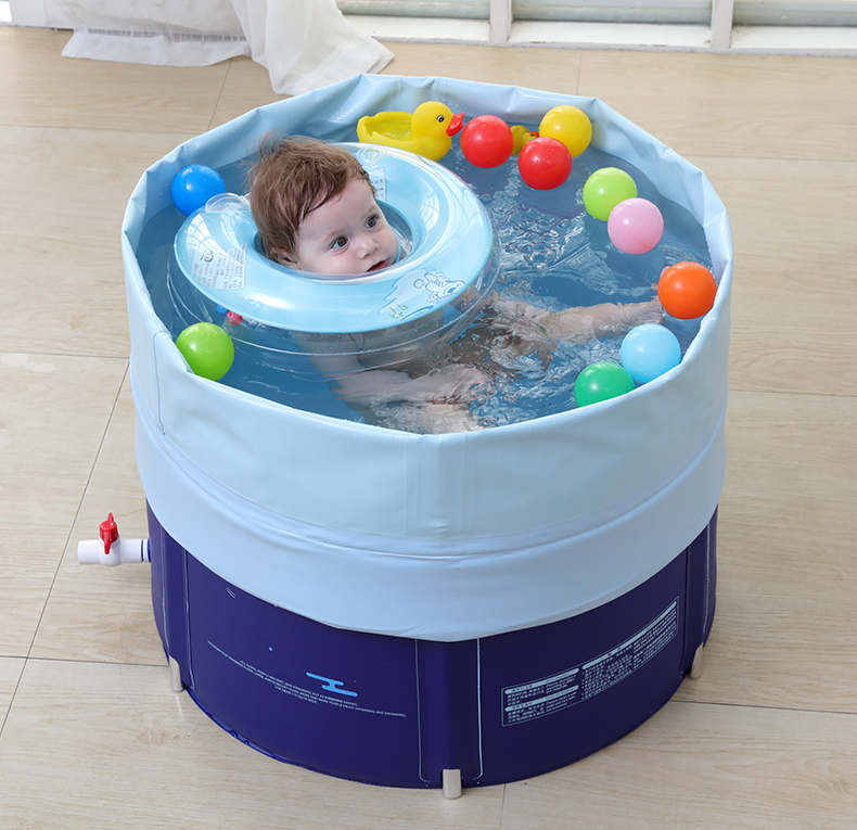Baby swimming pool home newborn children bracket pool warm plastic inflatable baby pool bestway round baby pool baby wading pool thick folder mesh stent pool children bathing pool 152 38cm
