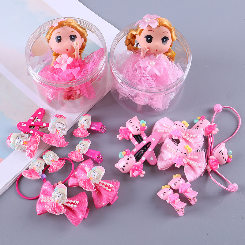 9pcs set Lovely Bow Hairpin Hair Clips For Girls Hair Accessories For Kids Hairgrips Headwear Kids Gift Princess Hair Barrettes in Hair Accessories from Mother Kids