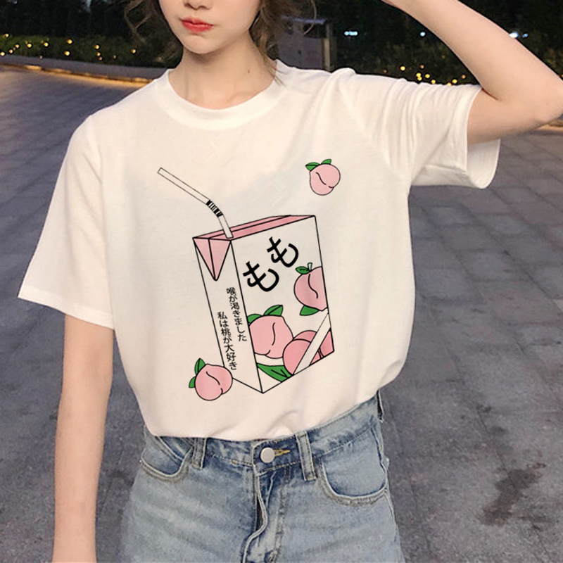 New Harajuku 90s Graphic   T     Shirt   Women Ullzang Funny Printed   T  -  shirt   Grunge Aesthetic Fashion Tshirt Korean Style Top Tee Female