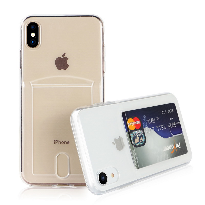 Transparent Soft TPU Card Holder Case for iPhone 11/11 Pro/11 Pro Max 32