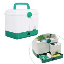 Multifunktionale Haushalt Medizin-box Multi-layer First Aid Kit Große Kapazität schubladen Medizin Schrank Starke 23,5*17*20,3 cm