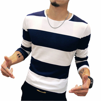 Men Striped T Shirts 2016 Autumn New Fashion Trend Long Sleeve Men S Casual T Shirt