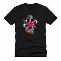 New Men S Fashion Short Sleeve T Shirt Mens Donut Skater Urban Skateboard Cartoon Men 2017