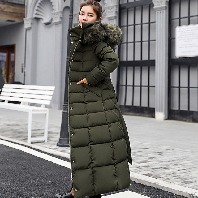 KUYOMENS  New Arrival Women Winter Jacket Fur Collar Hooded Down Cotton Female Coat parka Long Parka Warm Thicken Outwear 5
