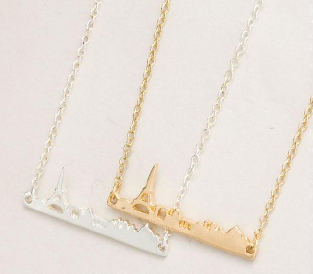2016 gold silver plated france eiffel tower pendant chain necklace 2016 gold silver plated france eiffel tower pendant chain necklace for women stainless steel paris city aloadofball Images