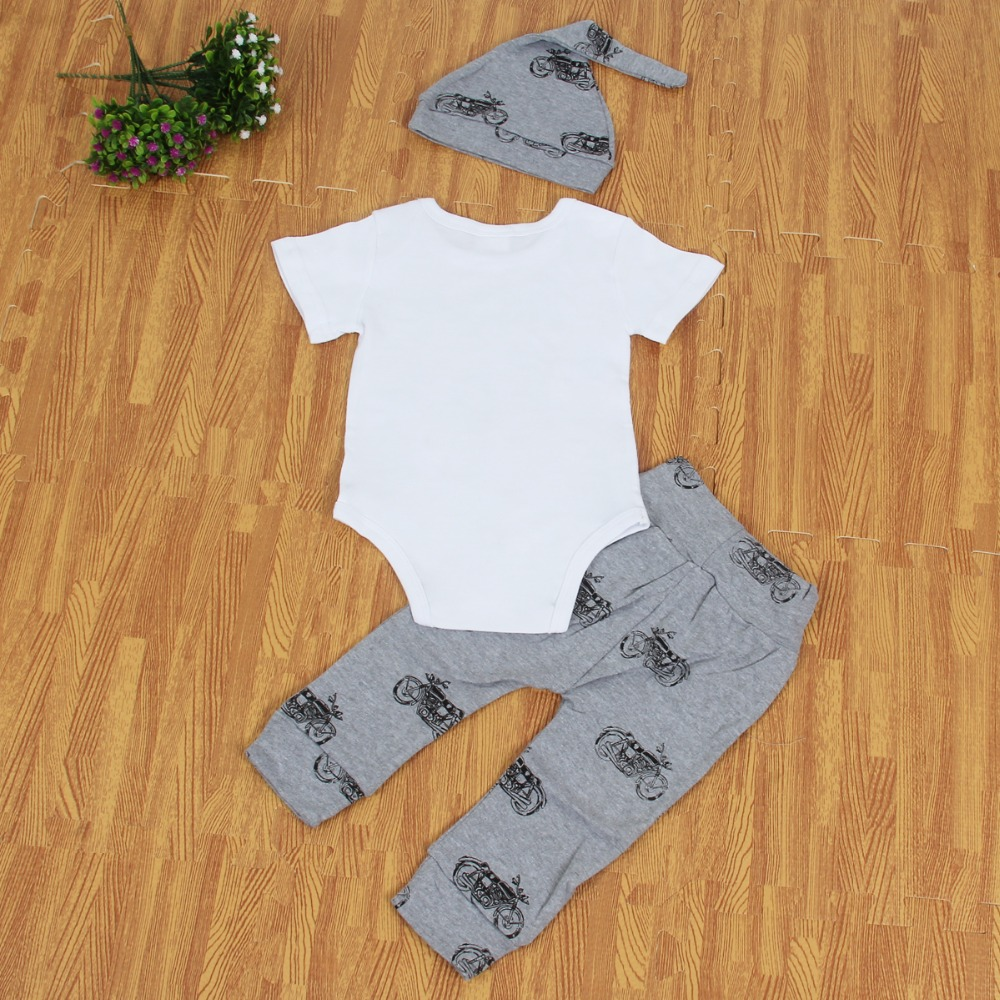 2017 Puseky Summer Baby Clothes Set Newborn Kid Letter Short Sleeve