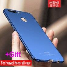 Оригинальный Msvii для Huawei Honor 8 Pro Lite V9 Huawei P10 P9 плюс Nova 2 7 6X Mate 8 9 Pro Телефон Чехол Сельма жесткий матовый